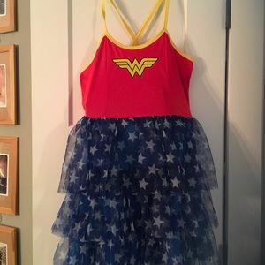 Wonder Woman strap dress kids NWT